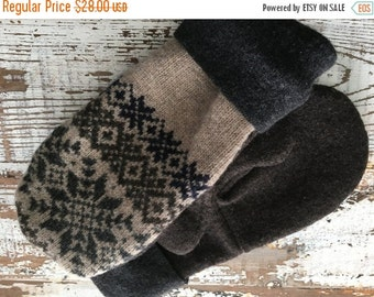 30%OFF SUPER SALE- Mens Winter Mittens-Felted Wool Mittens- Mens-Fair Isle