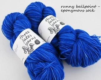 runny ballpoint - eponymous, fingering weight yarn