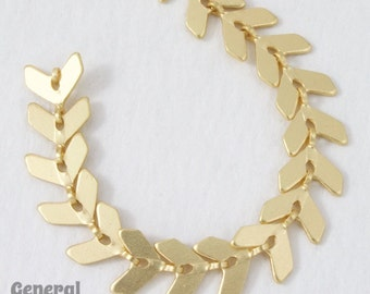 6.5mm Matte Gold Chevron Chain #CC60