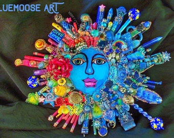 SALE The Fantastic Bead Mosaics© Sun Series. PEACE Planet II