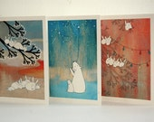 Let it Snow - Set of Six Assorted Blank Note Cards