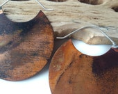 Copper Earrings - Hoop Earrings - Mixed Metal Earrings - Mixed Metal Jewelry - Large Size