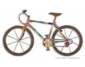 Mountain Bike Art - Mixed Media Wall Sculpture