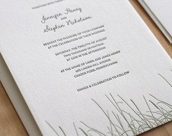 Rustic Letterpress Wedding Invitation