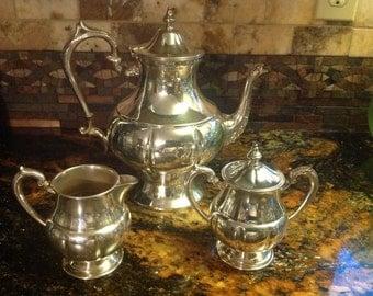 Adorable Silver Plated Tea Serving Set