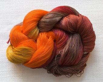 PUMPKIN SPICE 8/2 Handpainted Tencel Yarn