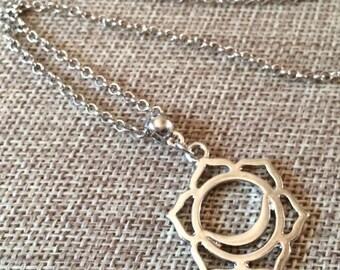 SUMMER SALE Sacral Chakra Necklace / Sacral Chakra Pendant / Chakra Jewelry / Chakra Charm Necklace / Reiki Necklace / Yoga Necklace / Yoga