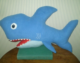 Custom Shark pillow with open mouth- choose your color shark- custom made Shark plushie