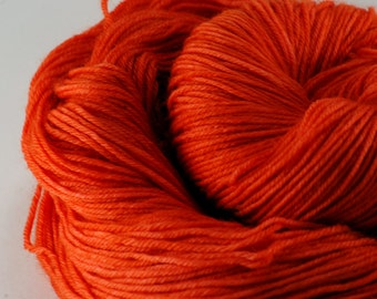 Hand Dyed 100% Merino Sock Yarn - Persimmon
