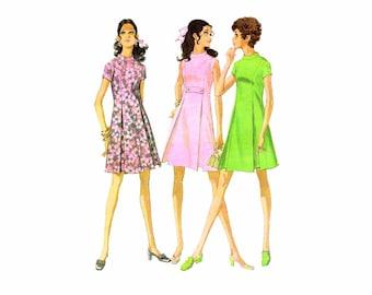 1960s Misses Princess Seam Dress McCalls 9705 Vintage Sewing Pattern Size 12 Bust 34 Uncut