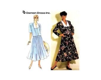 Misses Shawl Collar Top Jacket Skirt Damon Dress Inc Simplicity 7371 Vintage Sewing Pattern Size 10 - 12 - 14 - 16 - 18 UNCUT