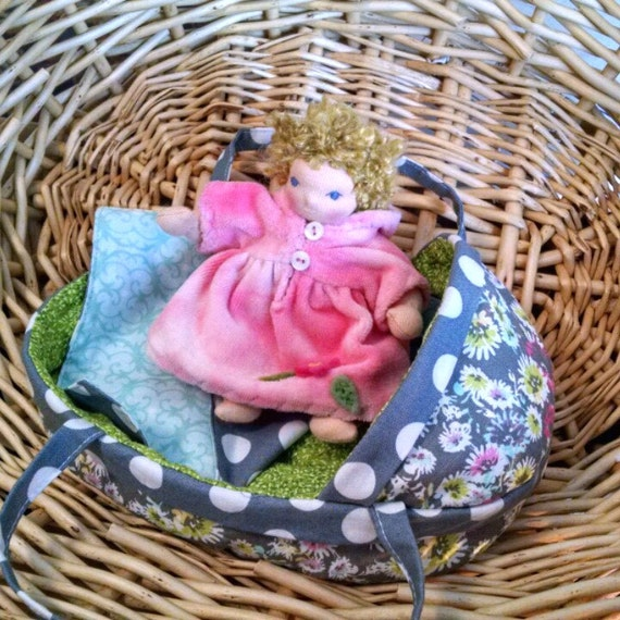 "6"" Baby and/or Moses Basket Custom Waldorf Doll"