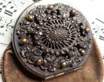 Leather and Metal. Victorian Wallet. As Found. Steampunk.