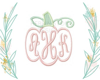 Pumpkin Embroidery Design Harvest 4x4 5x7 6x10 Instant Download Halloween Thanksgiving PES BX