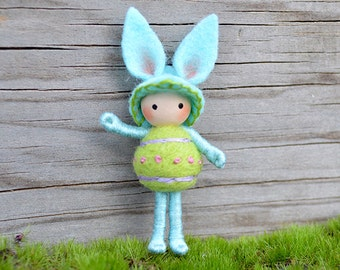 Easter Bunny Blue Green