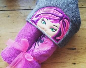 Mal Inspired Hooded Towel, Kids Large Hooded Towel
