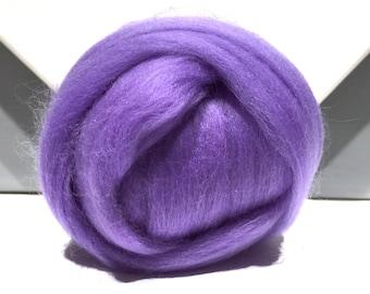 Merino Roving, Needle Felting wool, Spinning Fiber, lavender, lilac Merino, felting wool, lavender wool, lilac roving, light purple Merino