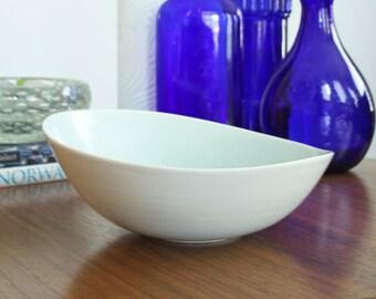 Porcelain Wave Bowl in Celadon - Modern Design Pottery Bowl - One Of A Kind Ceramic Bowl - Unique Handmade Bowl