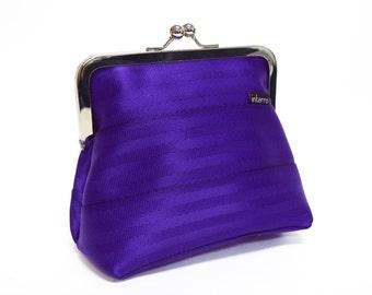 Purple Seatbelt Clutch Purse