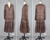 R E S E R V E D shop sale / vintage dress / 1970s / india cotton gauze / ADINI bohemian dress