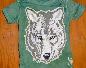 Infant Wolf Batik One Piece