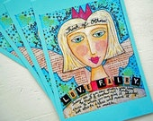 "Love Fairy Postcards Set of 4 Print from Mixed Media Painting by RememberMeEmily 4"" x 6"""