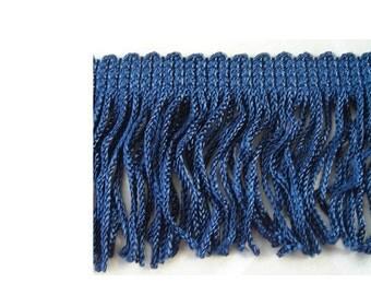 Vintage Navy Blue Fringe