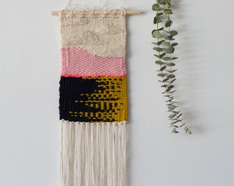Pink Pina Colada - One of a Kind Handmade Weaving by Jackie Dives
