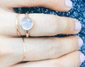 Moonstone 14K Rose Gold