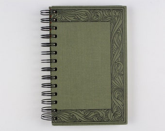 Recycled Book Journal- Hauff's Werke- Notebook, Sketchbook, made from altered book