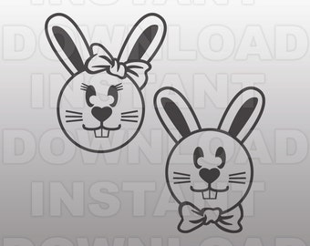 Bunny Rabbit SVG File Bunny svg Farm Animal svg Cute Animal svg Baby Decor svg Nursery svg Vector Clip Art for Personal & Commercial Use