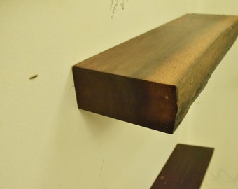 No. 38 - Thick Walnut Floating Shelf