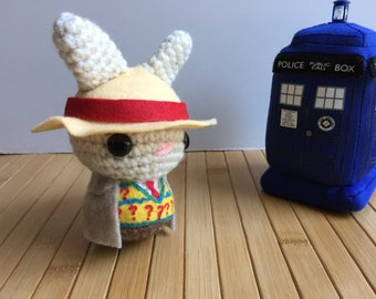 The Doctor Moon Bun - Seventh Doctor Amigurumi Bunny Rabbit - Sylvester McCoy