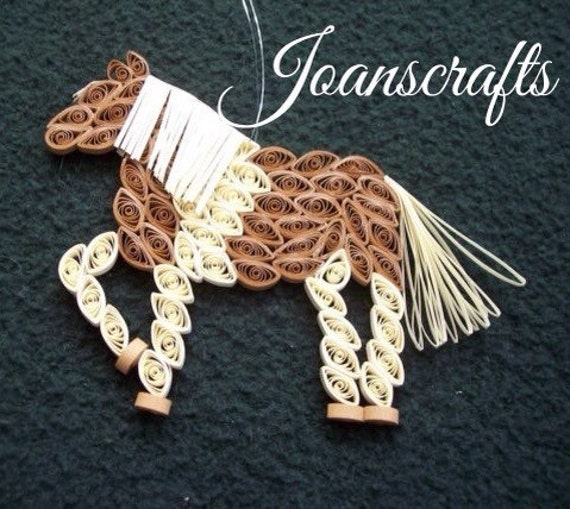 Chincoteague Pony, Quilled Horse Ornament