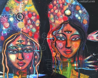All Seeing Sisters, print