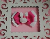Pink Bunny Small Boutique Bow