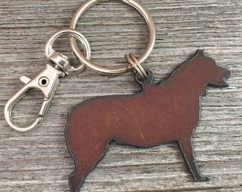 Cattle Dog Key Ring ~ Dog Keychain ~ Pet Key Chain ~ Can be Customized