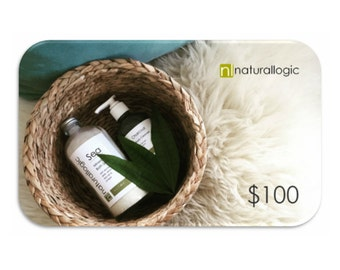 100 Dollar Gift Card. Electronic Gift Certificate. E-Gift. Gift for Her. Spa Gift Set. Spa Kit. Spa Gift. Natural Organic Skin Care.