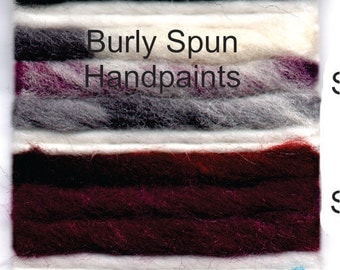 Burly Spun Hand Paint Wool Yarn Cake Soft Wound  Special Order Brown Sheep
