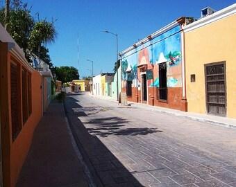Day of the Dead. A desolate street in Celestun, Yucatan, Mexico.