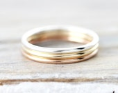 Smooth stacking rings in sterling silver, gold filled or rose gold filled