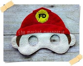 Fireman Mask Boys Make Believe Pretend Play Creative Play Mask