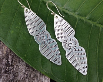 Sterling Big Leaf Earrings