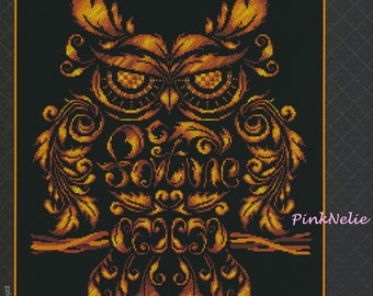 Fortune Owl - G88 - Counted Cross Stitch Original Design Pattern Chart