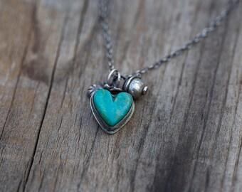 Turquoise heart trio