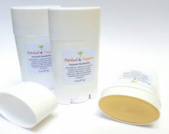 Natural Deodorant, Patchouli Tangerine, Organic Ingredients, No Aluminum Deodorant, Cruelty Free, Personal Care, Unisex Deodorant