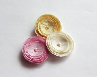 Pick 3 Silk Poppies Baby Snap Hair Clips,Hair Pins