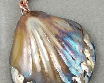 Raku Seashell Pendant