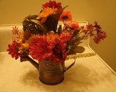 Sweet - Bouquet - Floral - Arrangement - Metal - Watering Can - Autumn - Colors - Gift