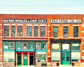 "chinatown, rustic wall art, large art, large wall art, canvas art, large canvas art, kitchen wall art, art print - ""Noodles and Chop Suey"""